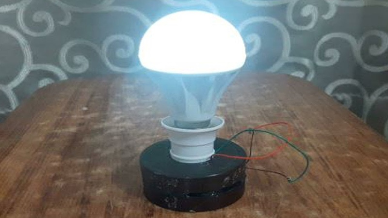 Free Energy Electricity Generator Using Magnet and Copper Wire Self Running 12v Light Bulb 2019