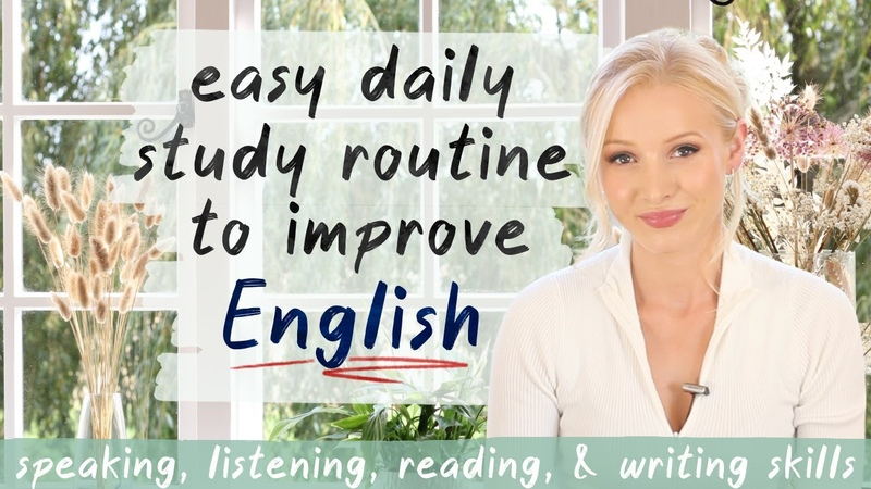 Easy Daily Study Routine to Improve English DO THIS DAILY for FAST results