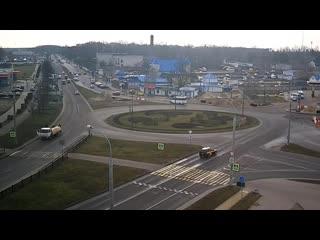 Вульковское кольцо в Бресте: один водитель потерял груз, другие два - попали в ДТП