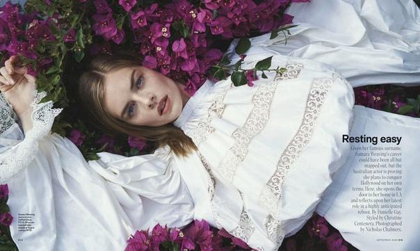 Прекрасная Самара Уивинг прямиком со страниц Vogue Australia В некоторых кинотеатрах еще можно увидеть «Билла и Теда» с её