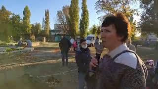 LIVE Бердянск Благоустройство сквера в микрорайоне Колония Макорты
