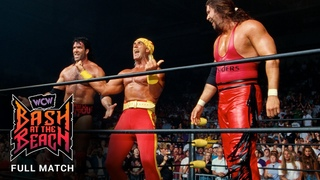 FULL MATCH - The Outsiders vs. Lex Luger, Sting & Randy Savage: WCW Bash at the Beach 1996