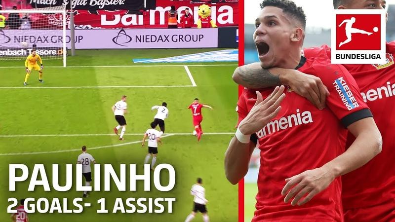 Paulinho 19 Year Old Brazil Wonderkid 2 Great Goals 1 Assist