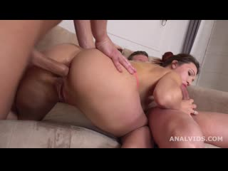 She is a Monster, Jasmine Waterfall welcome to Porn with Balls Deep Anal, DP, Gapes, Squirting and Cum in Mouth