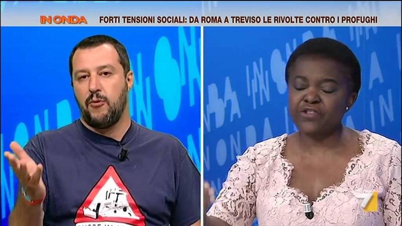 Salvini contro Kyenge 'Dal felicemente dimenticato Ministro dell'integrazione ho poco da imparare'