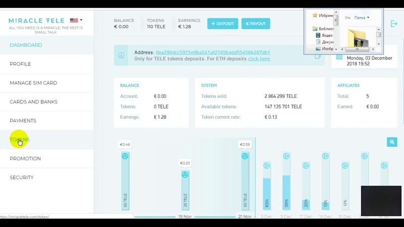 MIRACLETELE обзор Airdrop ICO Bounty за 3 дня