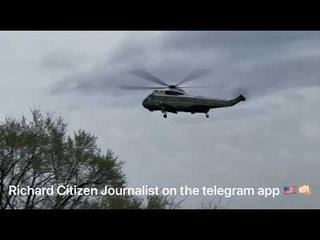 3/27/21 Richard Citizen Journalist- Two Marine Ones on Ellipse Taking off and landing