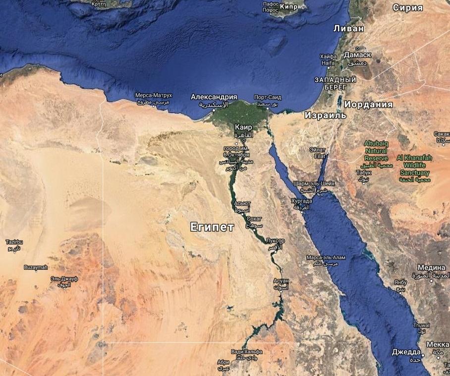 Тотальная пустыня в Египте
