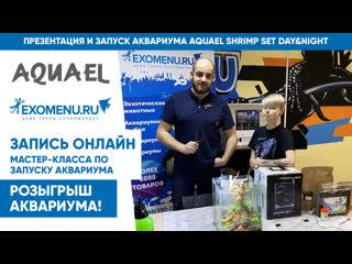 ✅ Онлайн мастер-класс по запуску аквариума AQUAEL SHRIMP SET DAY&NIGHT