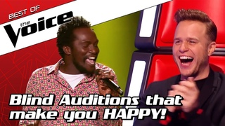 TOP 10 | HAPPY & FUNNY Blind Auditions that make you SMILE in The Voice