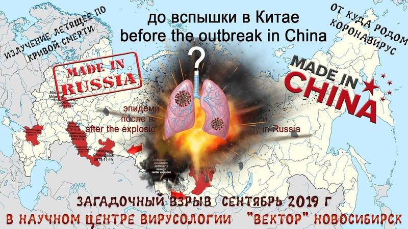 Версия - Всё указывает на то, что коронавирус стартовал из России.