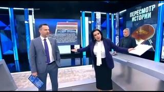 Екатерина Стриженова упала в прямом эфире (Первый канал,)