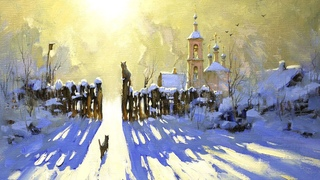 "Картина ""Кошачьи грезы"" процесс создания. (time-lapse) #20"