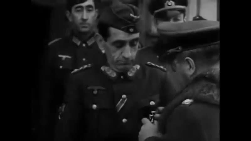 Церемония награждения Железным крестом 1 го класса генерала Муньоса Грандеса