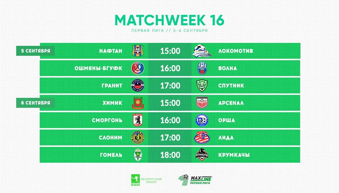 Футбольный клуб «Лида» проведет в воскресенье матч 16-го тура чемпионата страны в первой лиге.