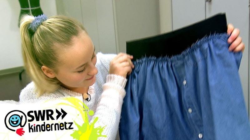 DIY-Tipp Jeansrock nähen   Du bist Style!   SWR Kindernetz
