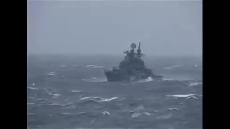 Эм пр 956 Адмирал Ушаков в шторм 9 баллов