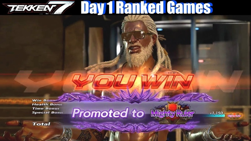 Tekken 7 Leroy Smith Ranked Games Vanquisher - Mighty Warrior (Day 1 Gameplay JP Server)