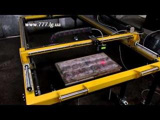 - Сканирование плитки на лазерном сканере