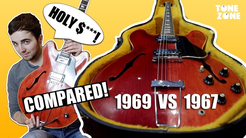 Do they sound the same 1967 vs 1969 GIBSON ES 335 TDC Vintage Guitars Tone Zone