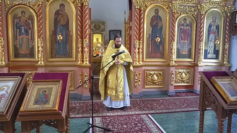 Проповедь после литургии в Неделю всех святых 14.06. 2020 о том кто такие святые