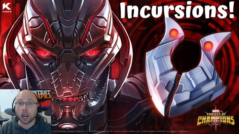 WORLD'S FIRST INCURSIONS WITH BRIAN AND KABAM CREW RECORD Live Marvel Contest of Champions