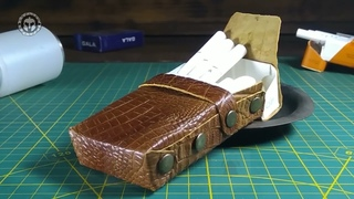 Make a luxury cigarette leather cover, Free PDF Pattern - DIY