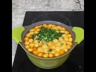 Куриный суп с сырными шариками (ингредиенты в описании)