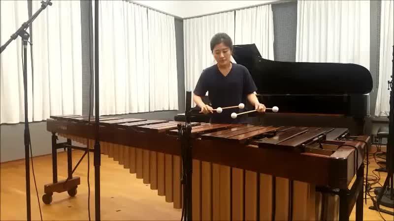 Cello suite No 6 Prelude by J S Bach Solo Marimba Hyeji Bak