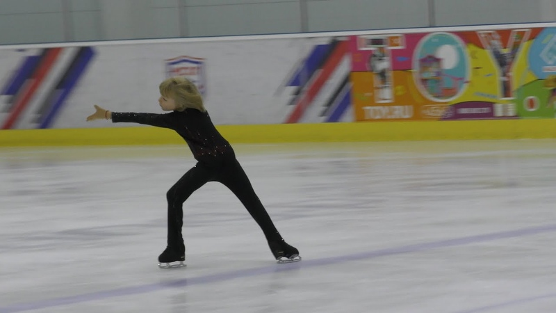 Alexander Plushenko, son of Evgeni Plushenko, 6,9 years, Tango Amore, 27.10.2019