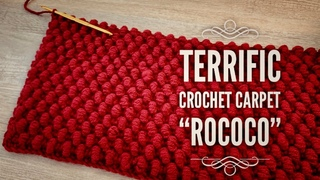 """ПОТРЯСАЮЩИЙ КОВЕР КРЮЧКОМ 🥀 """"ROCOCO"""" 🥀 ВЯЖЕМ ИЗ ОСТАТКОВ ПРЯЖИ!!! 💥 / HOW TO CROCHET A CARPET"""