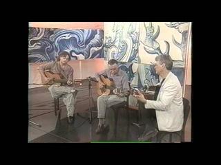 Paulinho Nogueira, Silvio Santisteban e Yamandu Costa na TV Cultura, no ano 2000