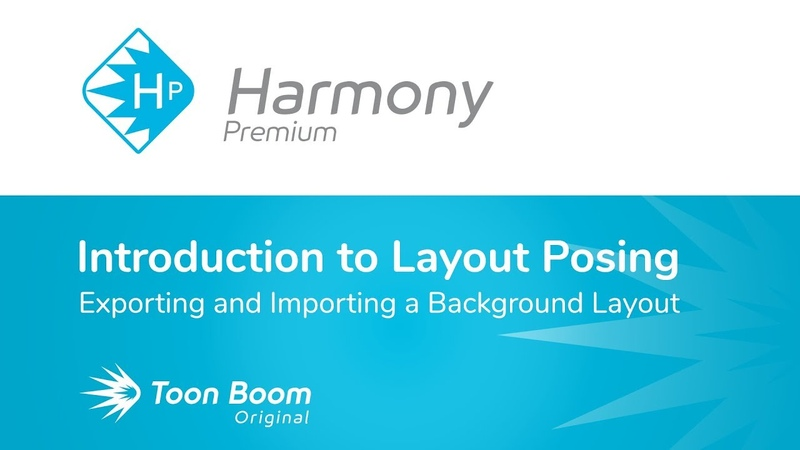 How to Export and Import a Background Layout in Toon Boom Harmony Premium