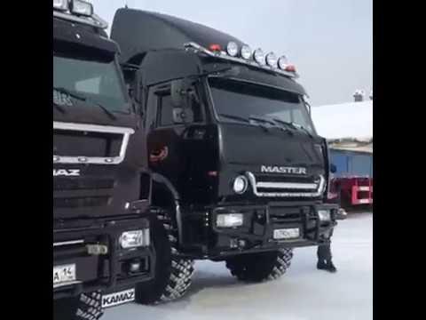 Якутские Камазы Yakut Kamaz Truck driver
