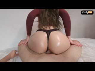 [ candy love ] my stepsister keeps riding on my dick after creampie reverse cowgirl pov