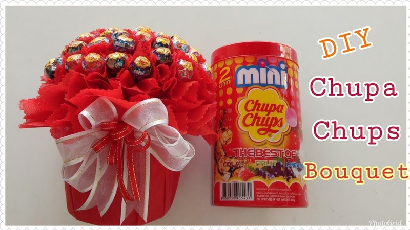 DIY Wrap Chupa Chups Candy Bouquet