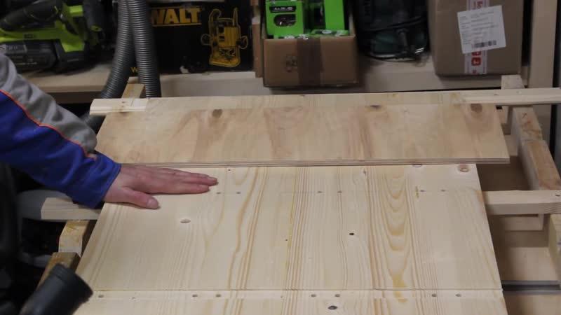 [WoodWorkMix - Столярный Микс] Фрезерование пазов, присадка шкантов... Стеллаж из дерева по спецзаказу.
