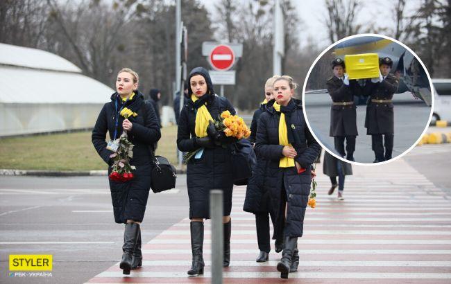 Катастрофа МАУ: тела погибших украинцев встретили в Борисполе (фото, видео)