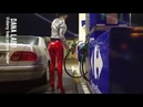 DANA LABO boots my passion - girl with red shiny leggings and high heels