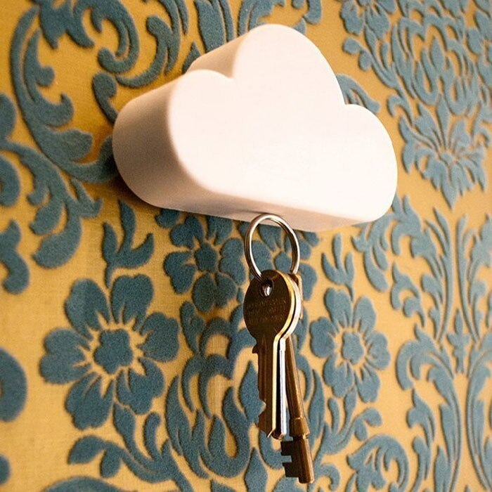 Магнитный держатель для ключей в виде симпатичного облачка