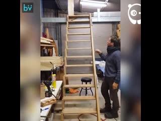 Лестница, которая может сэкономить пространство