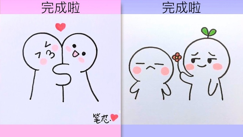 Tik Tok 💘 cách vẽ hình cute đáng yêu nhất 02 💘 những hình vẽ siêu cute 💘 How to draw cute pictures