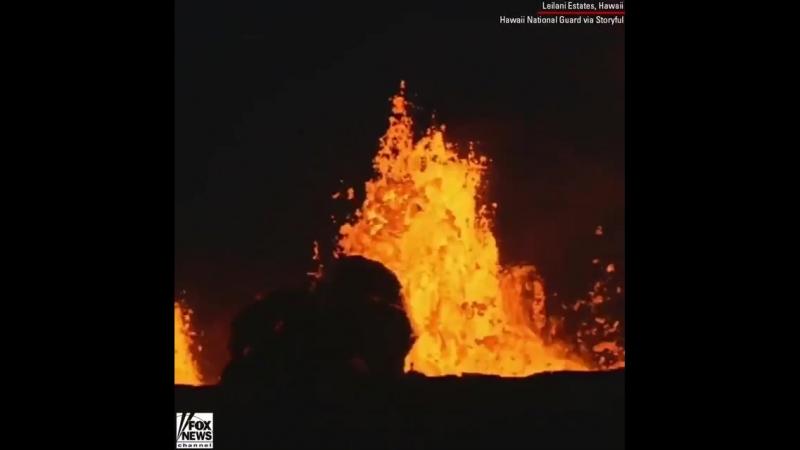 «Lava do vulcão Kilauea atinge poço potencialmente ex