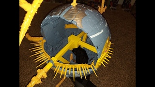 Haslab Unicron 3D printed upgrade kit assembly for separate planet mode