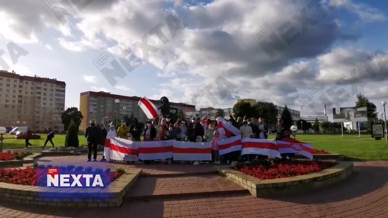 В Лиде тоже сегодня отметили День национального флага!