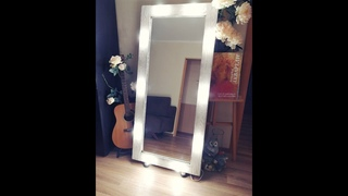 Гримерное зеркало с подсветкой, своими руками.Do-it-yourself mirror frame for the mirror.