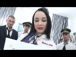 Francys belle takes a flight with gabgbang legal porno