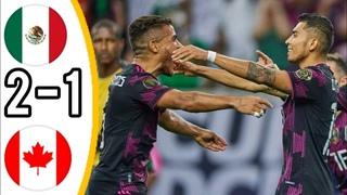🔥 Мексика - Канада 2-1 - Обзор Матча Полуфинал Кубок КОНКАКАФ 30/07/2021 HD 🔥