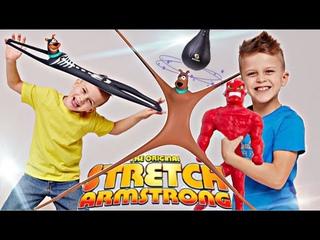 СУПЕР ЭКСПЕРИМЕНТЫ с НОВЫМИ героями STRETCH ARMSTRONG, Вак-Мэн и Скуби-Ду // #KiFill