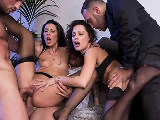 Nikita Bellucci, Alexa Tomas, оргия, свингеры, групповуха, анал, в очко, секс, ебля, трах, минет, порно [FULL HD 1080 Sex porno]